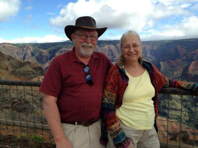 Bernie and Judy Jeub in Hawaii